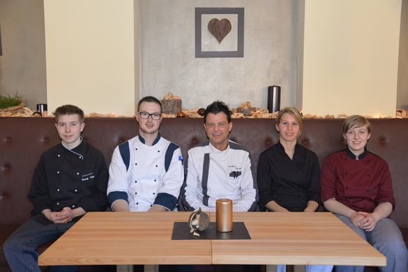 Our kitchen team with chef Markus Thurner