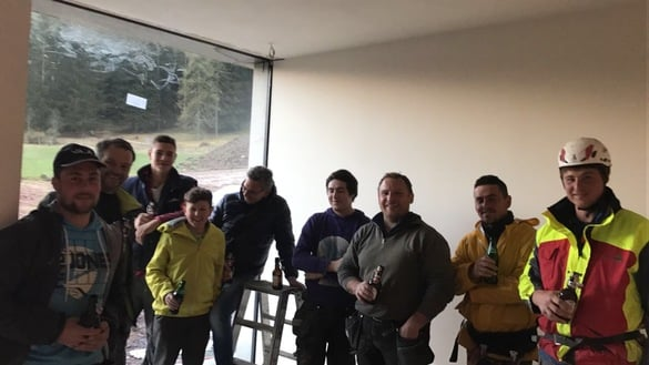 The installation of the windows was started